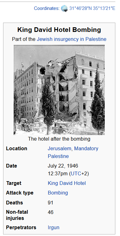 david hilbert hotel 1946 king david hotel
